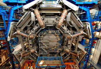The Large Hadron Collider looks like this